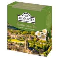 Чай Ахмад зеленый с Жасмином в пакетиках 100 штук