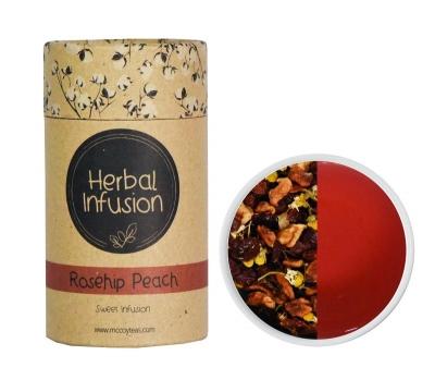 Чай травяной McCoy Роза и персик Фруктово-травяная коллекция чая в пирамидках 10 штук