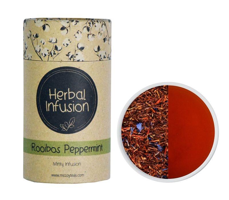 Чай травяной McCoy Ройбуш перечная мята Фруктово-травяная коллекция чая в пирамидках 10 штук