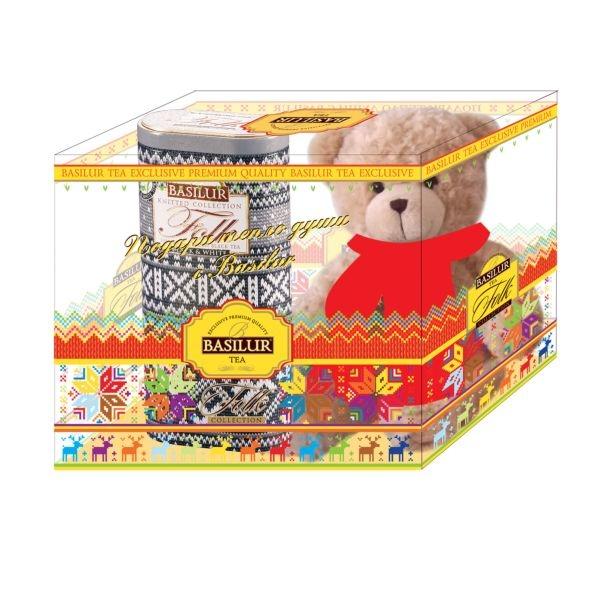 Подарочный набор Basilur Фолк Радость с игрушкой Черно-Белый