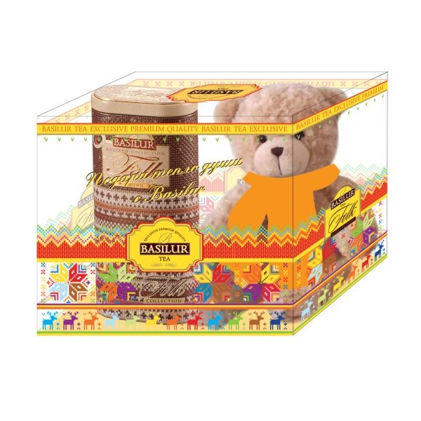 Подарочный набор Basilur Фолк Радость с игрушкой Коричневый