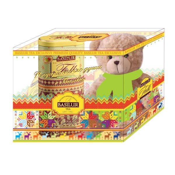 Подарочный набор Basilur Фолк Радость с игрушкой Зеленый