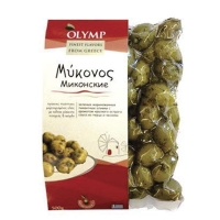 Оливки OLYMP Миконские перец и чеснок 500 гр