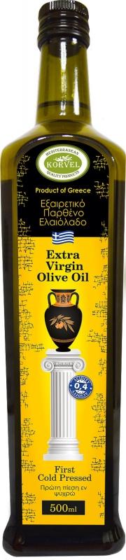 Оливковое масло Korvel Экстра Вирджин Данае 500 мл
