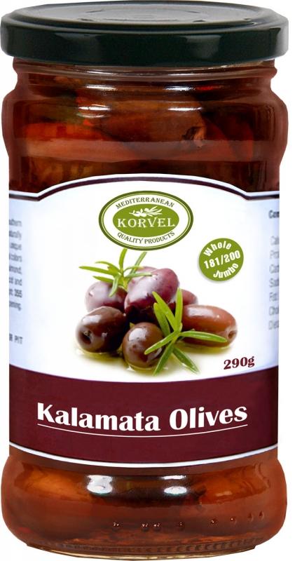 Korvel Джамбо оливки каламата с косточкой 290 г