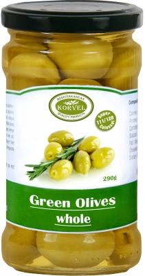 Korvel Колоссал зеленые оливки с косточкой 290 г