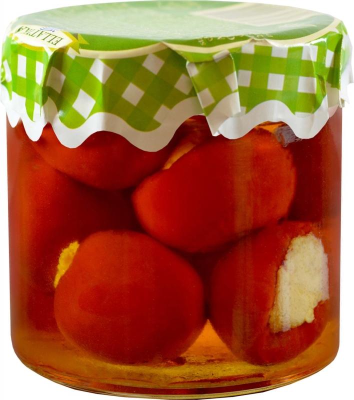 Ellatika красный сладкий перец черри, фаршированный сыром в масле 210 г