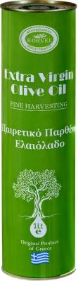 Оливковое масло Korvel Экстра Вирджин металлическая канистра 1 л