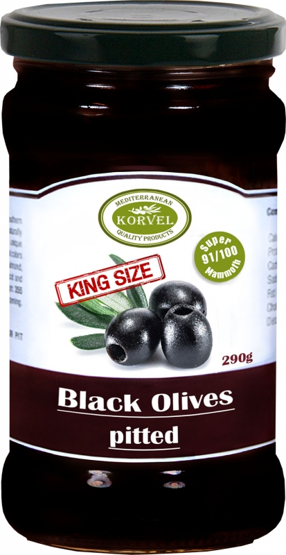 Korvel Супер Маммут маслины без косточки 290 г