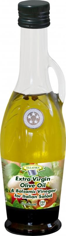 Оливковое масло Ellatika Амфора со специями и бальзамическим уксусом для итальянского салата 250 мл