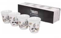 Набор Bialetti из 4 чашек красное золото