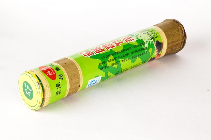 Чай Шэн Пуэр, выдержанный в стебле бамбука