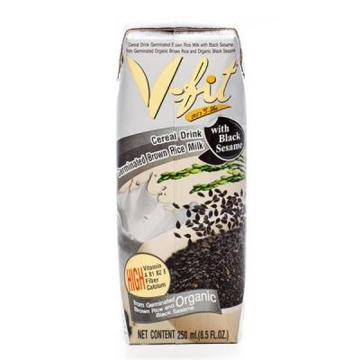 Молоко из коричневого риса V-Fit с экстрактом черного кунжута 250 мл
