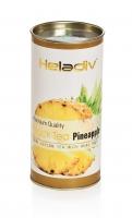 Чай черный фруктовый Heladiv Round Pineapple листовой в картонной тубе 100 г