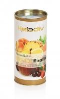 Чай черный фруктовый Heladiv Round Mixed Fruit листовой в картонной тубе 100 г