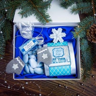 Чайный подарочный набор в белоснежной коробке Созвездие