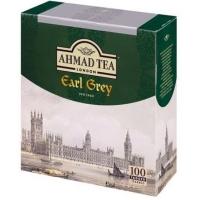 Чай Ахмад Эрл Грей черный в пакетиках 100штук