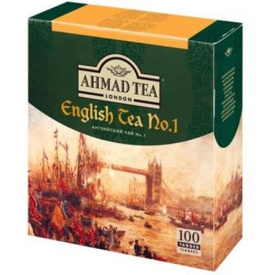 Чай Ахмад Английский чай №1 черный в пакетиках 100 штук