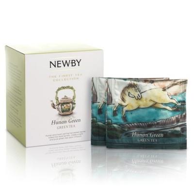 Чай Newby Хунан Грин 15 Шелковых Пирамидок зеленый 38 гр