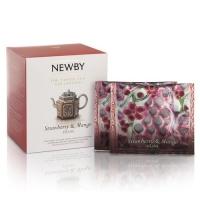 Чай Newby Клубника и манго 15 Шелковых Пирамидок фруктовый 38гр