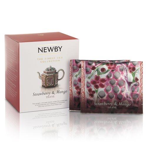 Чай Newby Клубника и манго 15 Шелковых Пирамидок фруктовый 38 гр