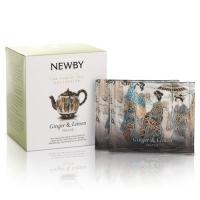 Чай Newby Имбирь с лимоном 15 Шелковых Пирамидок фруктовый 38гр