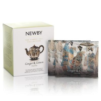 Чай Newby Имбирь с лимоном 15 Шелковых Пирамидок фруктовый 38 гр