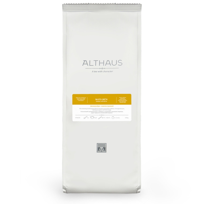 Чай Althaus Mate Grun травяной листовой 200 гр