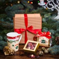 Чайный подарочный набор в гофро-упаковке Классик