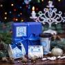 Кофейный подарок в синей гофре Классик