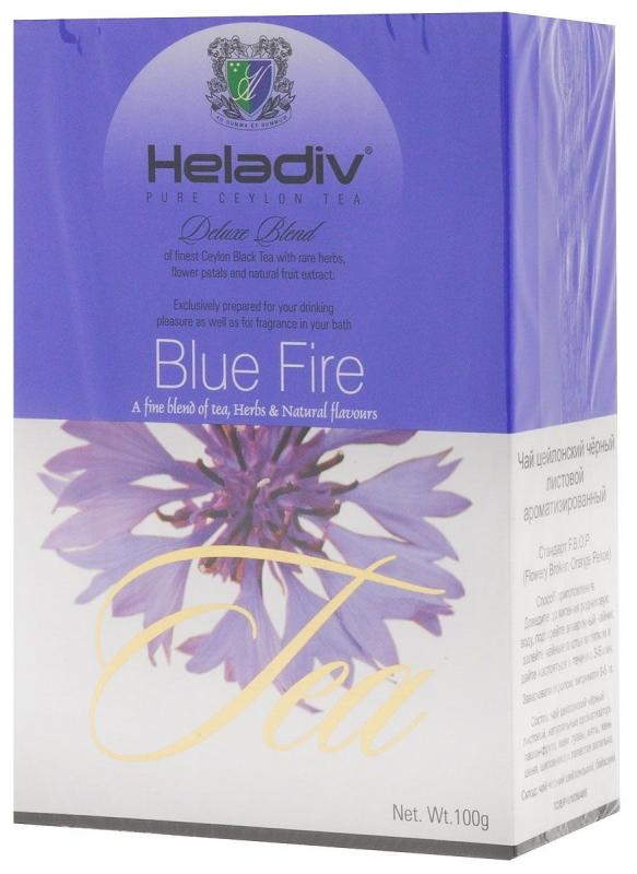 Чай черный Heladiv Blue Fire листовой с цветками василька 100 г