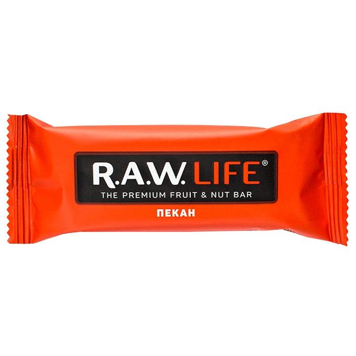RAW LIFE Орехово-Фруктовый батончик Пекан 47 гр