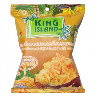 Кокосовые чипсы King Island с карамелью 40 г