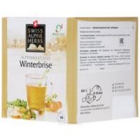 Зимний травяной чай в пакетиках Swiss Alpine Herbs с имбирем 14шт х по 1 г