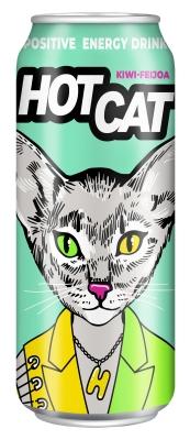 Напиток энергетический газированный HotCat Kiwi-feijoa 0,45 л