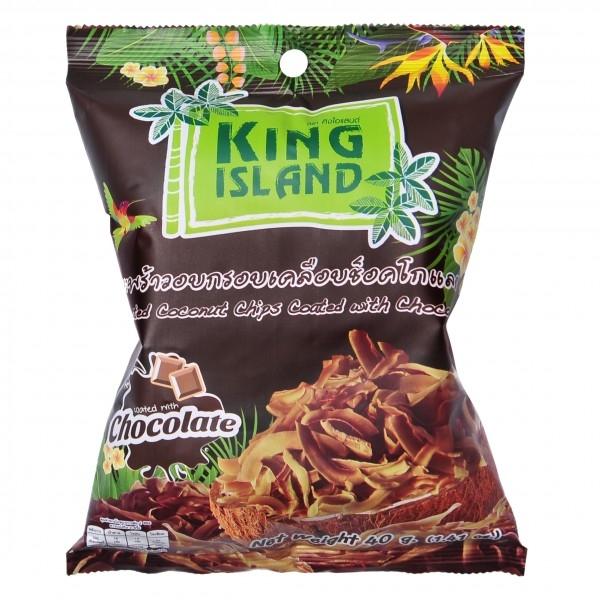Кокосовые чипсы King Island с шоколадом 40 г