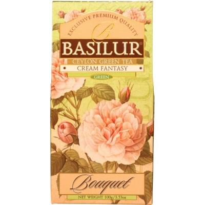 Чай Basilur Букет Кремовая фантазия Cream Fantasy листовой зеленый 100 гр в картонной упаковке