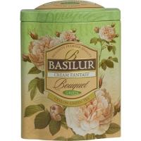 Чай Basilur Букет Кремовая фантазия Cream Fantasy листовой зеленый 100гр в жестяной банке