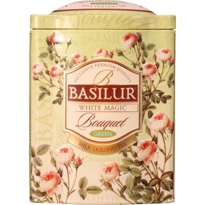 Чай Basilur Букет Белое волшебство White Magic листовой улун 100 гр в жестяной банке