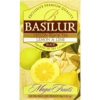 Чай Basilur Волшебные Фрукты Лимон и лайм 20 пакетиков черный в картонной упаковке