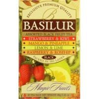 Чай Basilur Волшебные Фрукты Ассорти Assorted 20 пакетиков черный в картонной упаковке