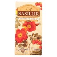 Чай Basilur Волшебные Фрукты Малина и шиповник листовой черный 100гр в картонной упаковке