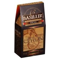 Чай Basilur Остров Спешиал Special FBOP листовой черный 100 гр в картонной упаковке