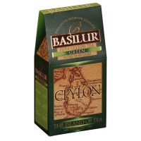 Чай Basilur Остров Зеленый Green OPA листовой зеленый 100 гр в картонной упаковке