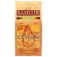 Чай Basilur Остров Золотой Gold OP1 листовой черный 200гр в картонной упаковке
