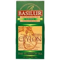 Чай Basilur Остров Зеленый Green OPA листовой зеленый 200гр в картонной упаковке