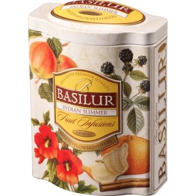 Чай Basilur Фруктовое Вдохновение Индийское Лето листовой Фруктовый 100 гр в жестяной банке