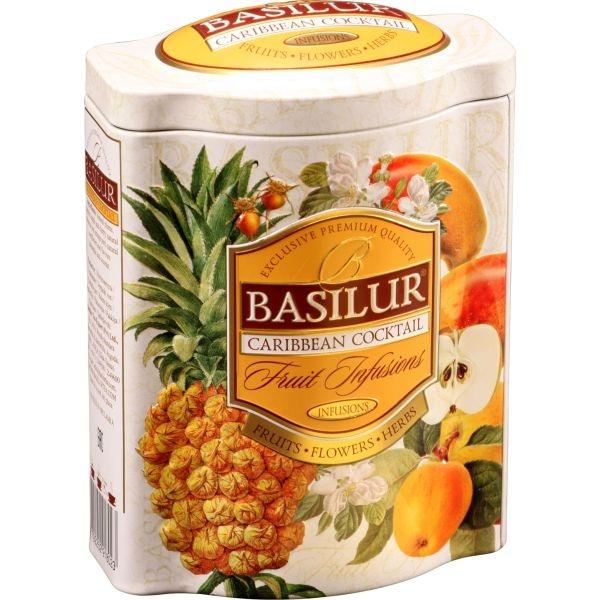 Чай Basilur Фруктовое Вдохновение Карибский Коктейль листовой Фруктовый 100 гр в жестяной банке