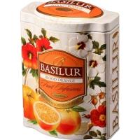 Чай Basilur Фруктовое Вдохновение Красный Апельсин листовой Фруктовый 100гр в жестяной банке