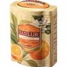 Чай Basilur Волшебные Фрукты Мандарин листовой черный 100 гр в жестяной банке